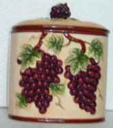 Ceramic Cookie jar - 3-D Tuscan Grape