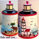 A Lighthouse Coastal Ceramic Cookie Jar