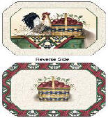 Apple Rooster Placemats - Farmhouse Gathering