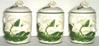 Storage Jar/Canisters Ceramic - Lily Theme