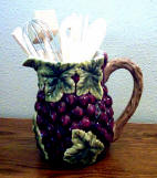 A Grape Pitcher -Utensil /tool Holder set