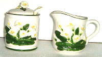 A Ceramic Lily-Sugar-Creamer Set CLEARANCE!!!