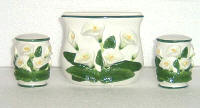 Salt-Pepper Napkin-Holder Ceramic - Lily Theme