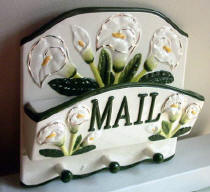 A Ceramic Lily Mail Holder CLEARANCE!!!