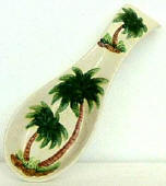 Palm Tree Spoonrest/Soap pump Set