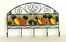 `Wall-Hooks with Pineapple design hanger