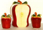 Napkin, Salt and Pepper Set - 2-Sided 3-D Apple