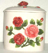 A Rose Cookie Jar w/Napkin Holder CLEARANCE!!!