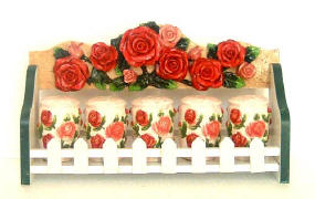 A Rose Spice Rack w/Soap Pump-CLEARANCE !!!