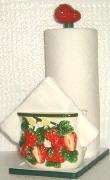 Strawberry Napkin Towel Holder