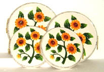 A Sunflower Stove Burner Cover - Ceramic Set of 4