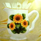 Sunflower Pitcher Utensils