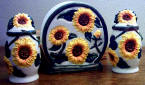 sunflower ceramic napkin set