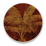 Patterned Palms Cork-Backed Tile Trivet