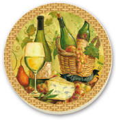 Cork-Backed Tile Trivet-Tasting-Room Set of 2