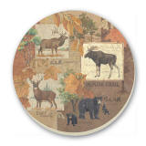 A Lodge/Cabin Decor Cork-Backed Tile Trivet  - Wilderness Trails