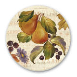 Autumn Gardens Fruit Design Cork-Backed Tile Trivet Set of 2