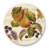 2-Autumn Garden - Pear-Grape-Leaf Tile Trivet