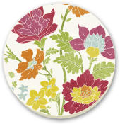 Garden View Cork-Backed Tile Trivet Set of 2