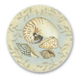 Castal/Beach Seashells Cork-Backed Tile Trivet Set of 2