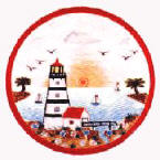 A Lighthouse Ceramic Tile Trivet
