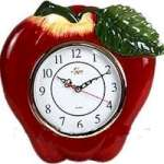 A Big Red Apple Ceramic Wallclock
