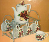 Teaset Ceramic Cut Apple Country Style