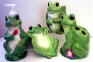 Frog Ceramic Bathroom Set