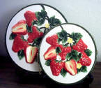 Burner Covers Ceramic Strawberry Burner Covers