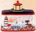 A Lighthouse Ceramic Bread Box