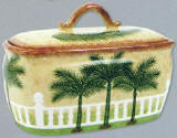 Palm Tree Bread  Box