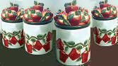 Airtight Ceramic Kitchen Canisters New Apple