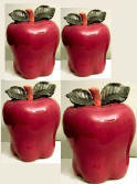 A Big Red Apple Kitchen Canisters