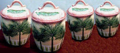 Palm Tree 4 canister set