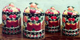 Country Fruit Ceramic 4 Canisters