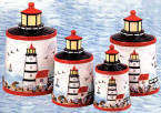 A Lighthouse Kitchen Canister Set