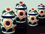 Sunflower Ceramic 4 canister set