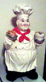 A Ceramic Cookie jar-Fat Italian Chef
