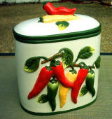 Chili Pepper Ceramic Cookie jar