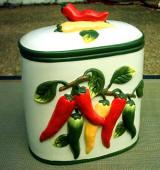 Chili Pepper Kitchen Decor Theme Ceramics Canister