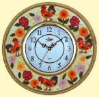 New Rooster Ceramic 14 inch  Wallclock