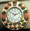 `Wallclock Round Pineapple Ceramic