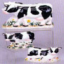 Napkin-Salt-Pepper set - Ceramic Cows theme