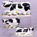 Napkin-Salt-Pepper set - Ceramic Cows theme
