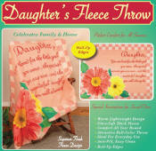 Throw Fleece Blanket Throw - Daughters