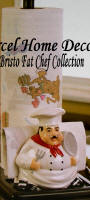 Ceramic Chef Paper Towel Napkin Holder