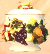 Fruit Spray Ceramic cookie jar
