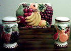 3-D Fruit Napkin Holder/Salt and Pepper Shakers