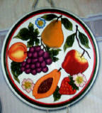 Ceramic 4 Country Fruit burner covers -CLEARANCE!!!