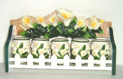 Spice Rack - Realistic  Lily Theme Ceramic